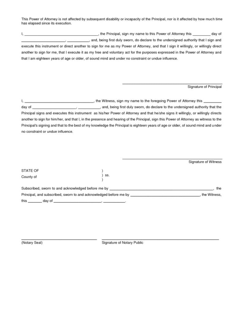 Power of attorney forms free forms adobe pdf a power of attorney falaconquin
