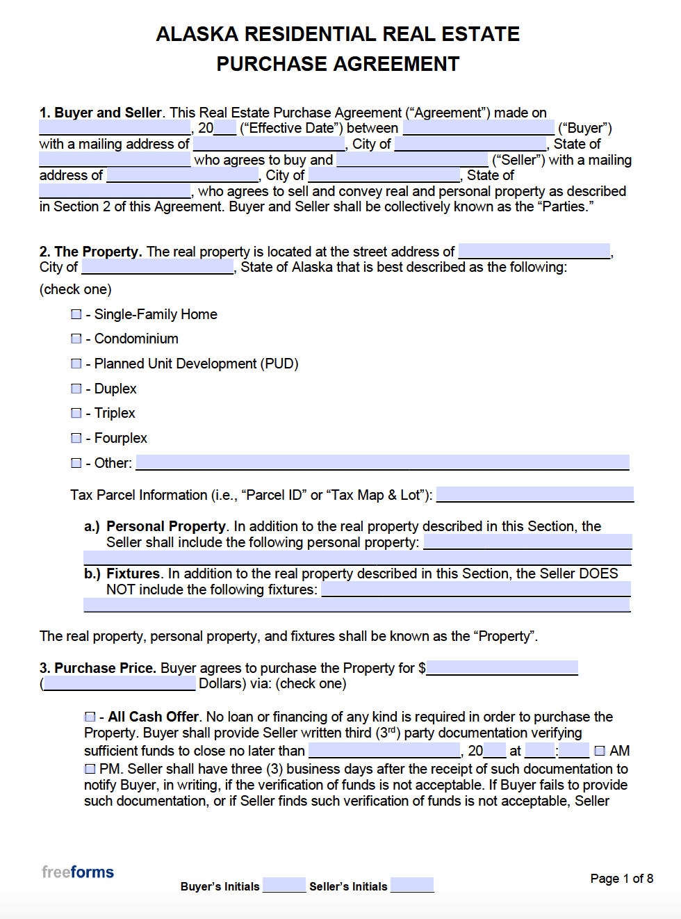 Fsbo Offer Letter Template from freeforms.com